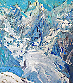 Glacier, oil painting, from Doubles by Christopher Neve