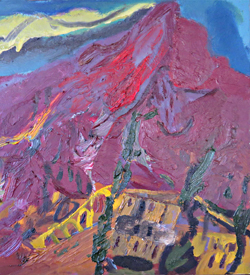 Mount Etna erupting, oil painting by Christopher Neve